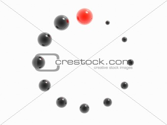 3D clockface or loading symbol