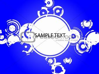 Blue Splatter Copyspace