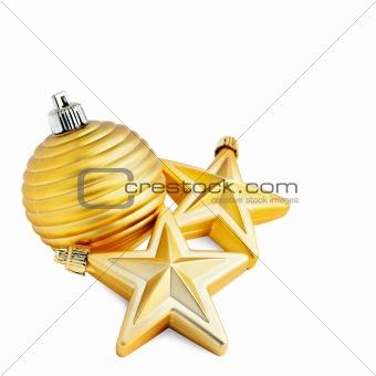 Christmas ball with stars