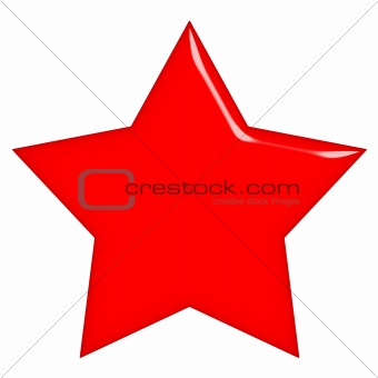 3D Communist Red Star