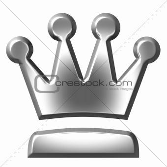 3D Silver Crown