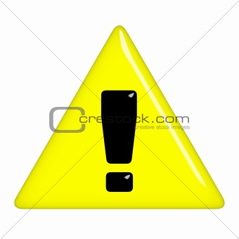 3D Warning Sign