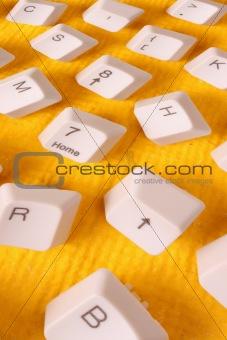 Close up of computer keys