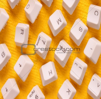Close up of computer keys