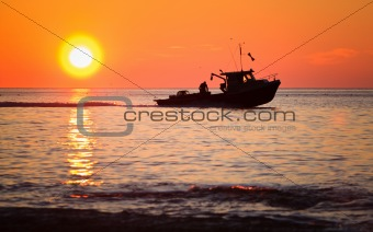 Lobster fishing boat