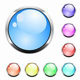 Colorful vector glossy buttons