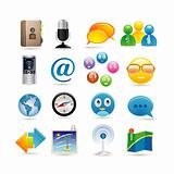 social media icon set