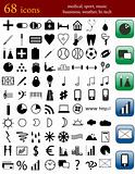 Set of different icons for web