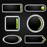 Vector black buttons