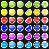 Set of colorful vector buttons, labels and stickers