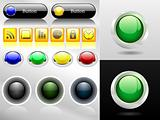 Set of web buttons and icons