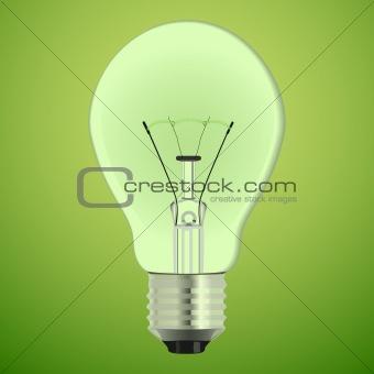 Green vector bulb