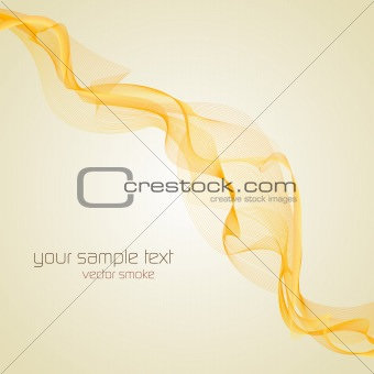 Abstract yellow vector smoke