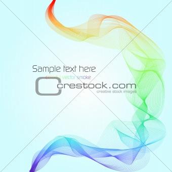 Abstract colorful vector smoke