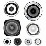 Set of vector loud speakers