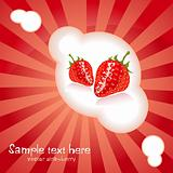 Vector card with strawberry