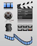 Set of vector media icons