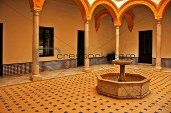 Alcazar of Seville, in Spain