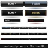 Vector buttons for web