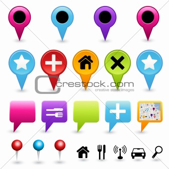 Map Directional Icon Set