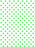 Vector Eps8  White Background with Green Polka Dots