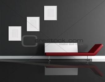 black minimal interior