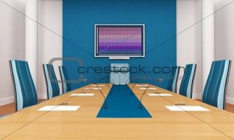blue boardroom