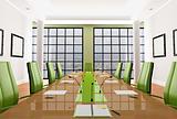 green meeting room