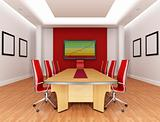 red boardroom