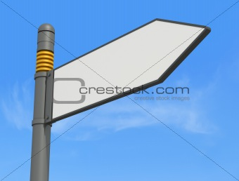 blank sigpost