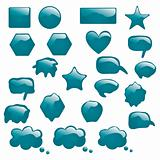 Set of bubbles icons