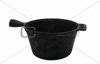 Old cast iron pot
