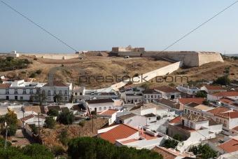 Ancient Fortress Castro Marim in Algarve, Portugal