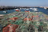 Lobster pots in a fishing village, Algarve Portugal