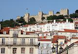 Castle of Sao Jorge overlooking Lisbon, Portugal