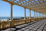 Pergola at the beach in Porto, Portugal