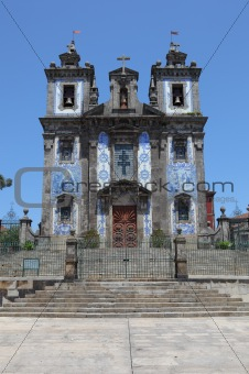 Church of Santo Ildefonso in the old town of Porto, Portugal