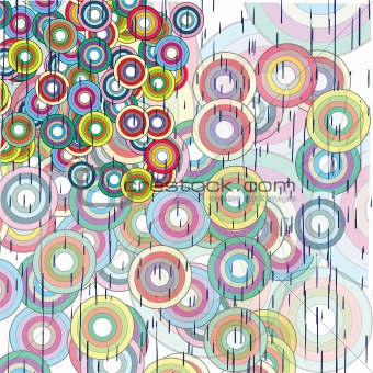 Abstract grunge background with circles