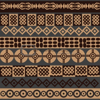 African symbols background