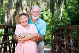 Romantic Seniors on Bridge