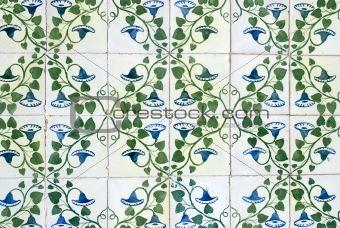 Portuguese glazed tiles 044