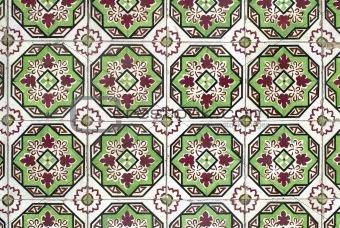 Portuguese glazed tiles 046