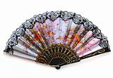 beautiful fan on white background