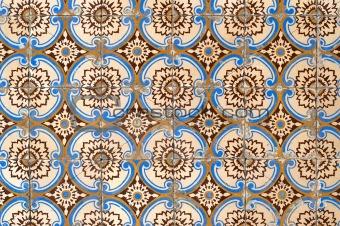 Portuguese glazed tiles 054