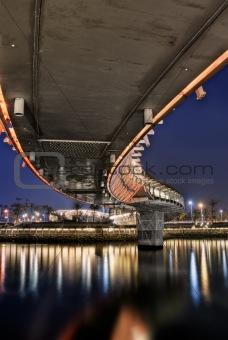 Bridge in night
