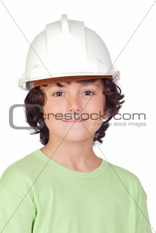 Beautiful child with helmet