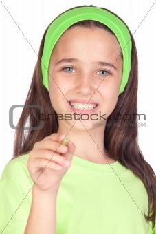 Adorable little girl writing