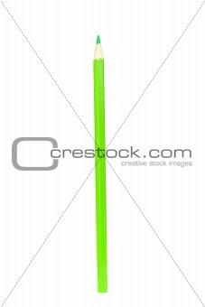 Green pencil vertically