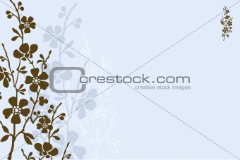 Vector Blue Daisy Background