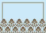 Vector Pastel Floral Frame